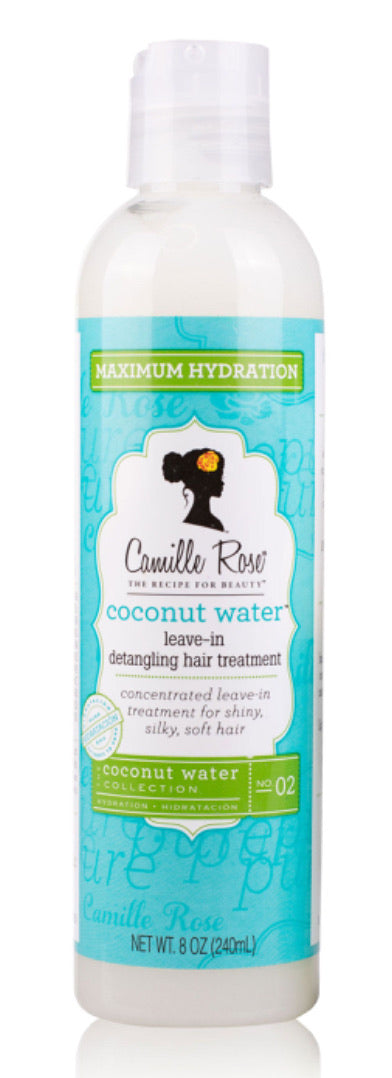 Camille Rose Coconut Water Leave In Detangling Hair Treatment  8oz