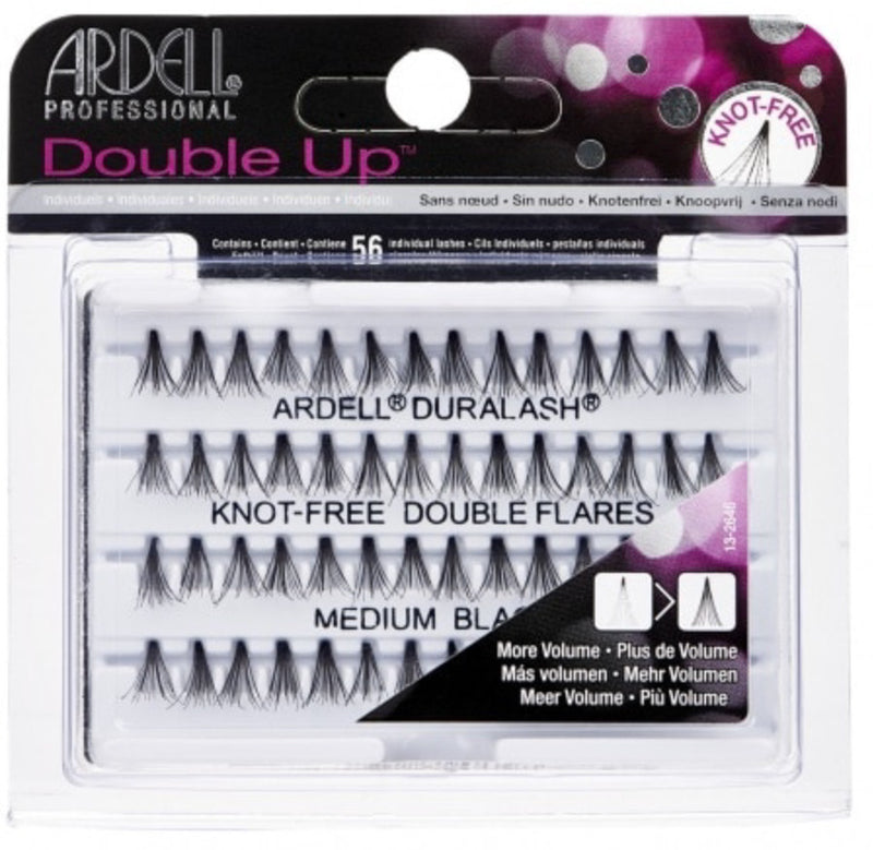 Ardell Professional Double Up Individual Knot-Free Double Flare Lash in Medium Black