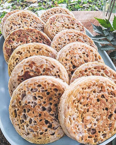 ONLY ORGANIC Crumpets - NO TOPPINGS 12pc