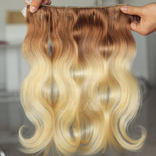 Load image into Gallery viewer, #12/613 Ombre Color Clip-in hair Extensions-11pc.