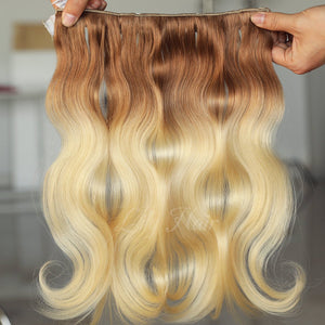 #12/613 Ombre Color Clip-in hair Extensions-11pc.