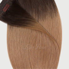 Load image into Gallery viewer, #2/12 Ombre Color Hair Tape In Hair Extensions