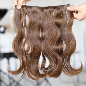 #2/6 Highlights Color Micro Ring Hair Extensions