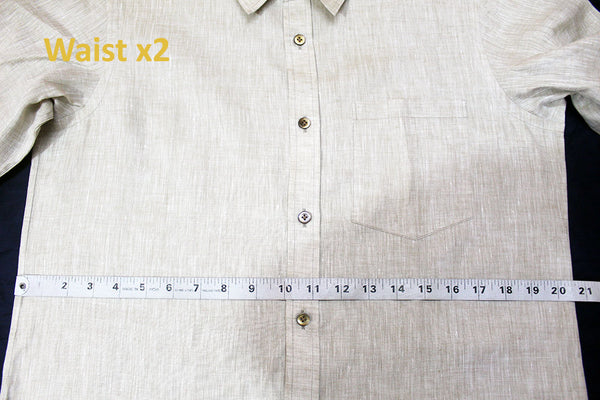Shirt Size Chart (Up to XXXL Chest Size) in India