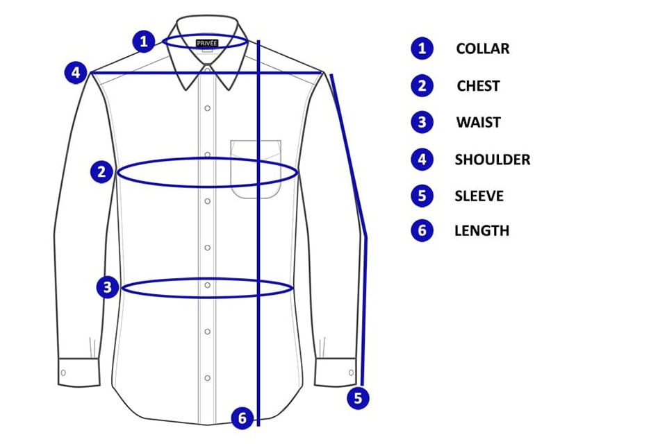 shirt measurements