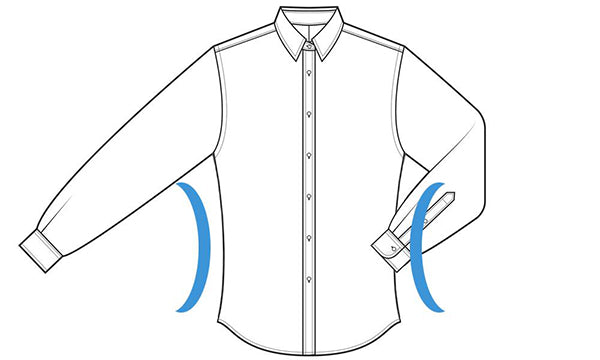 slim fit shirt size chart