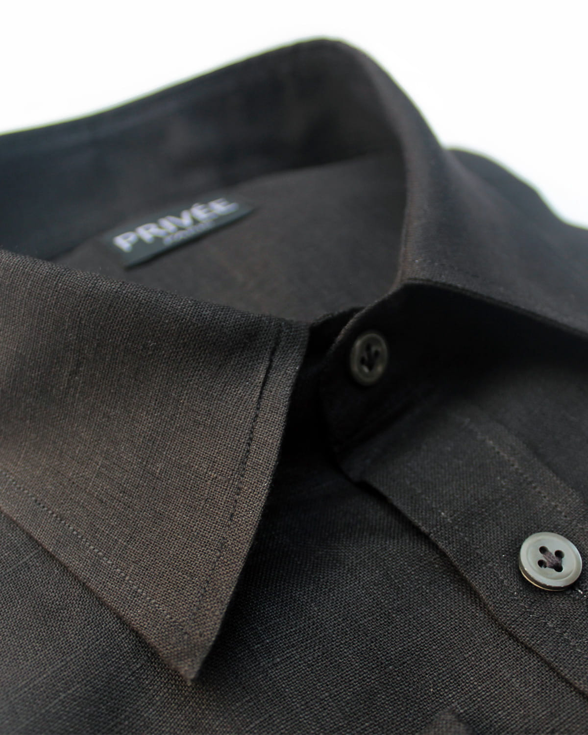 Black Linen Shirt Mens