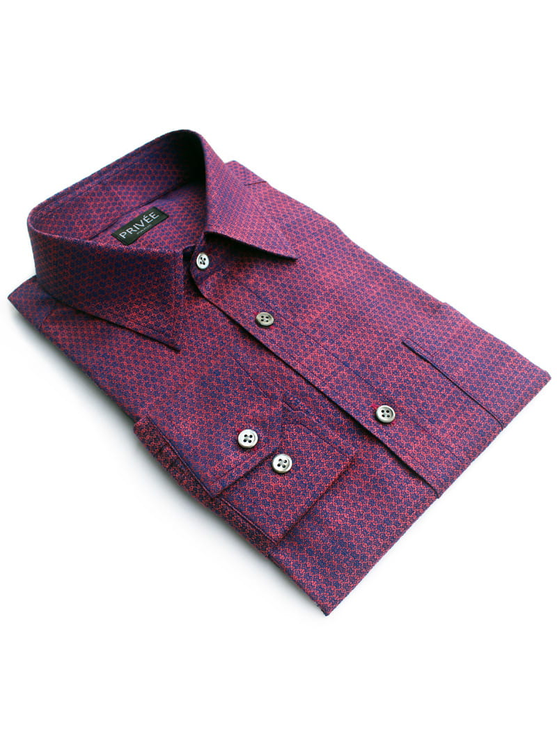 Ceremonial Collection Purple Wedding Shirts