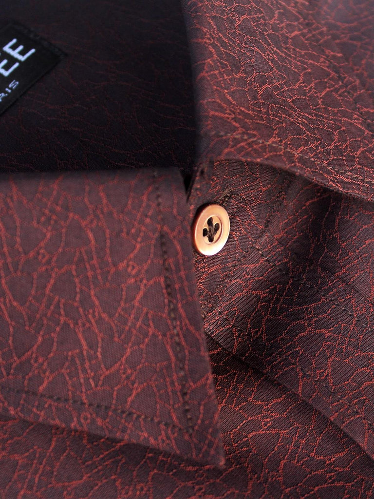 Dark Brown Party Wear Shirt