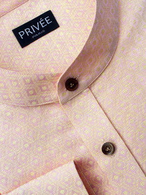 Peach Linen Wedding Shirts India