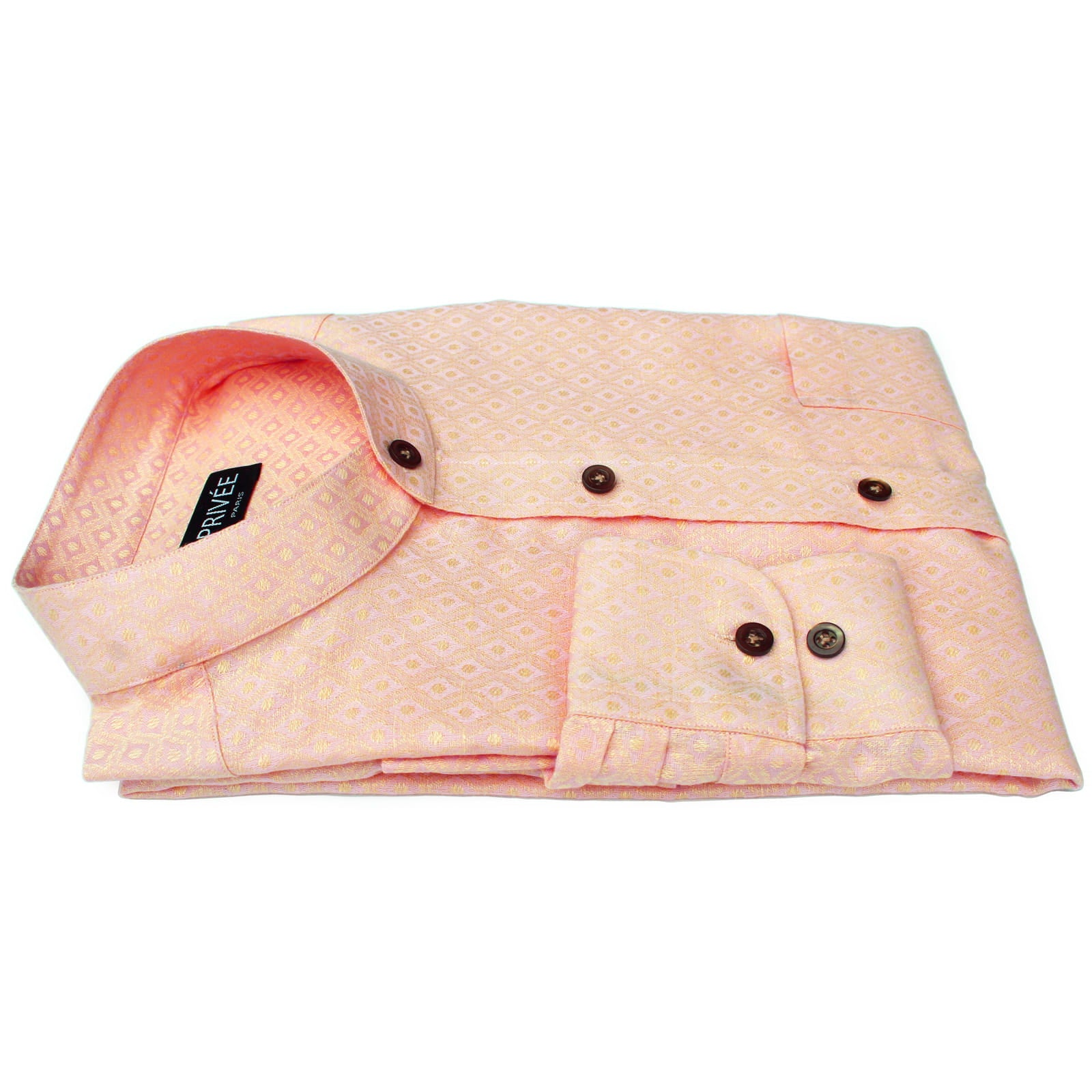 Peach Linen Luxury Wedding Shirts India
