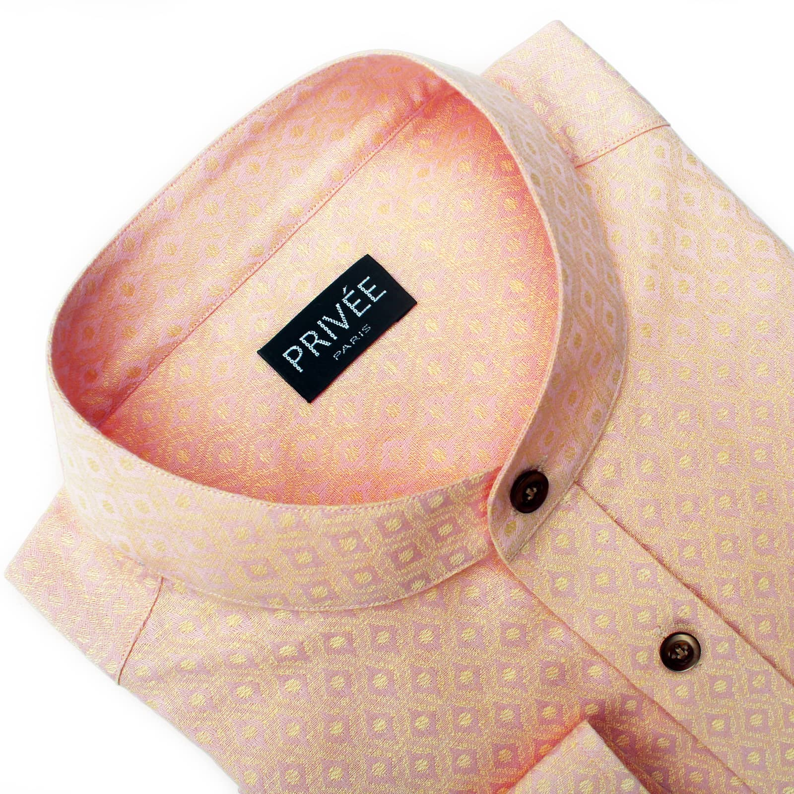 Peach Linen Wedding Shirts