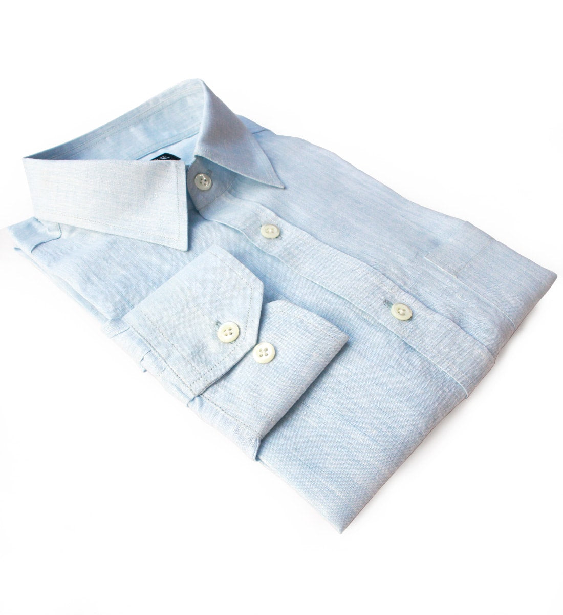 Privee Paris Ice Blue Linen Shirt