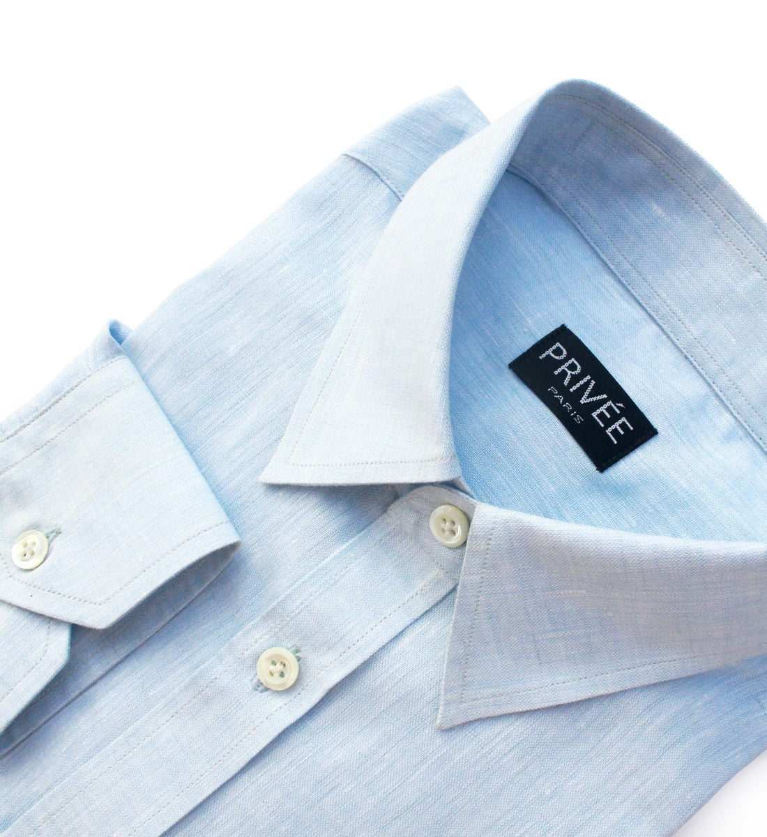 Ice Blue Linen Shirt India