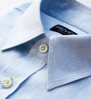 Ice Blue Linen Shirt