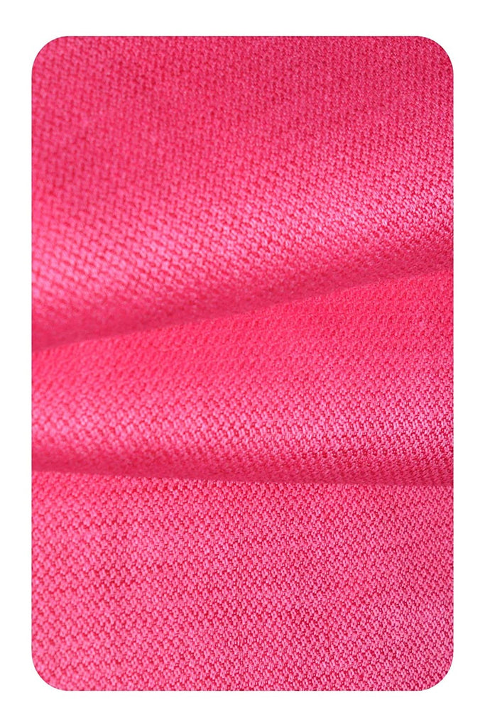 Luxury Linen Wedding Shirt (Hot Pink)