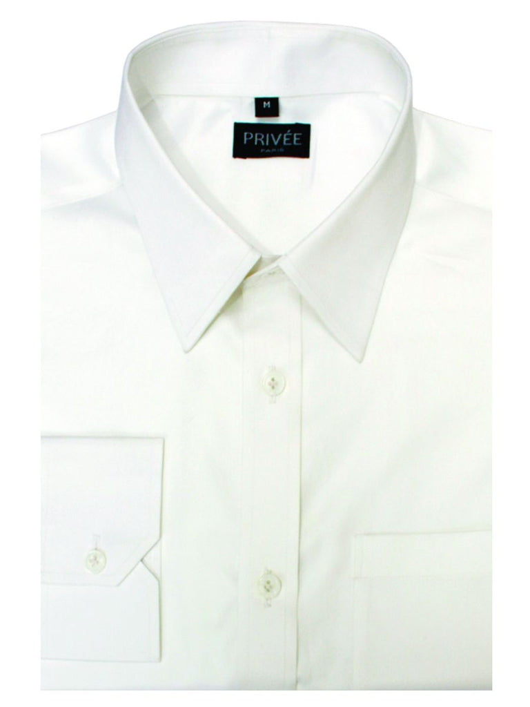 White 2Ply 120s Cotton Shirt - Privee Paris