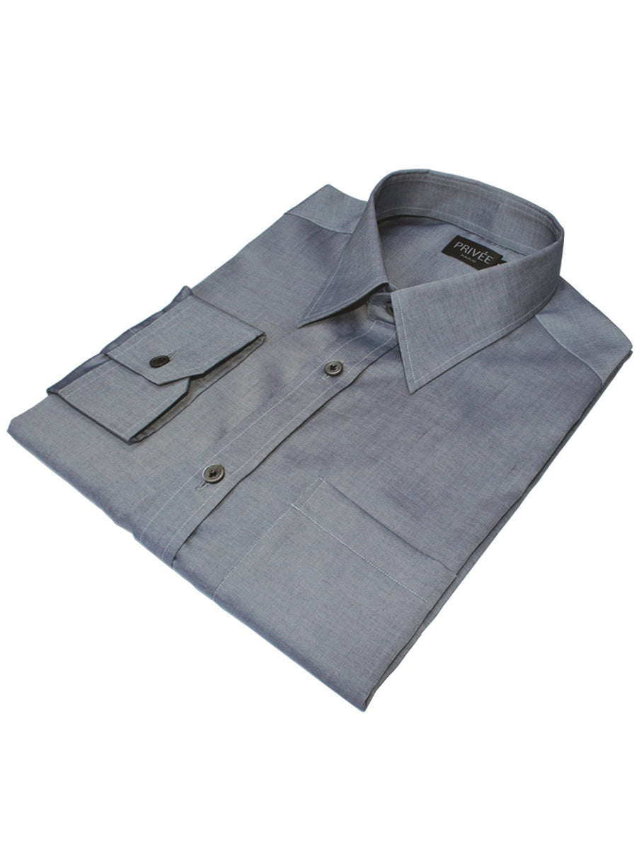 Bluish Grey Shirt Privee Paris