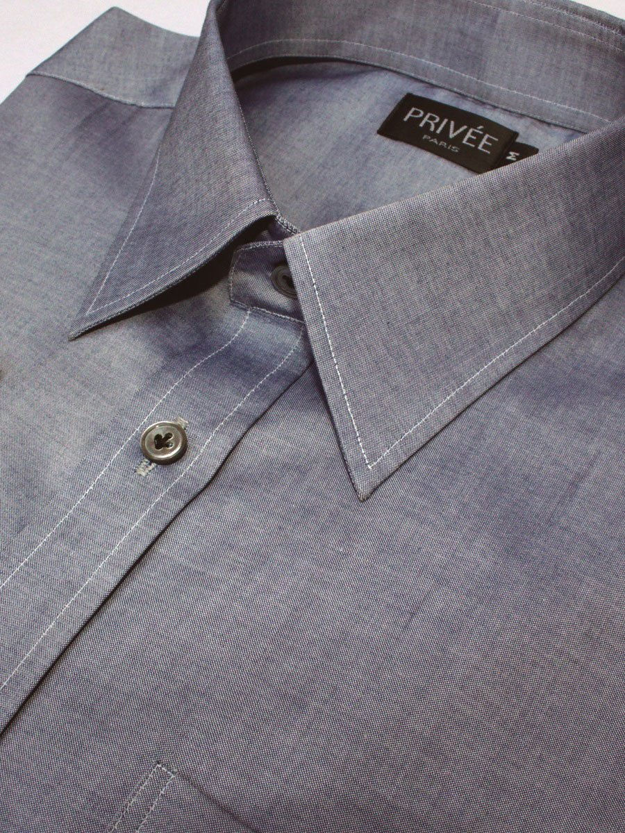 Privee Paris Bluish Grey Stylish Shirt