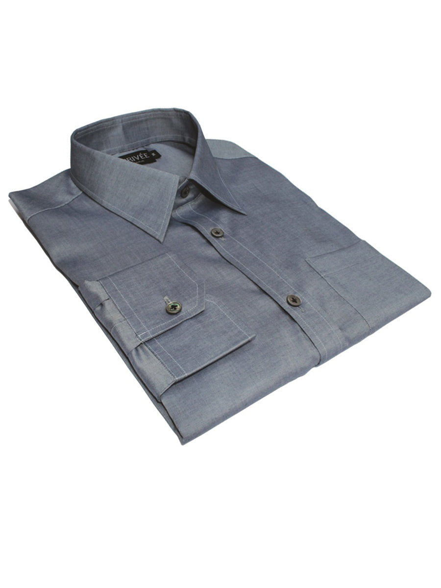 Bluish Grey Shirts Privee Paris