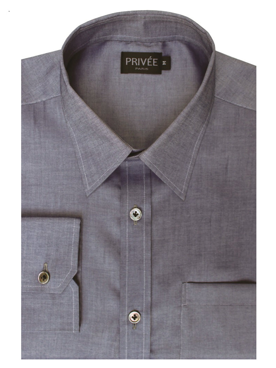 Bluish Grey Stylish Shirt Privee Paris