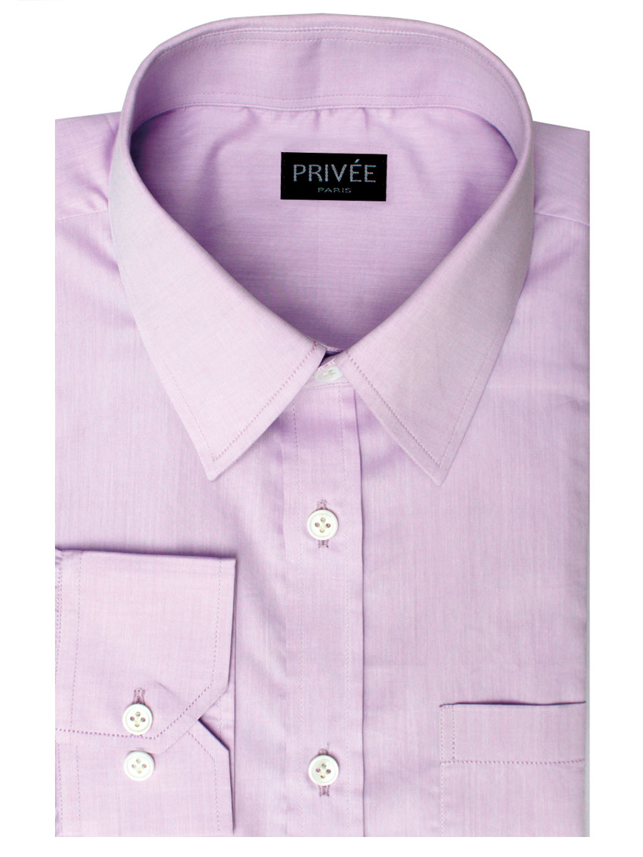 Light Violet Premium Cotton Shirt Privee Paris