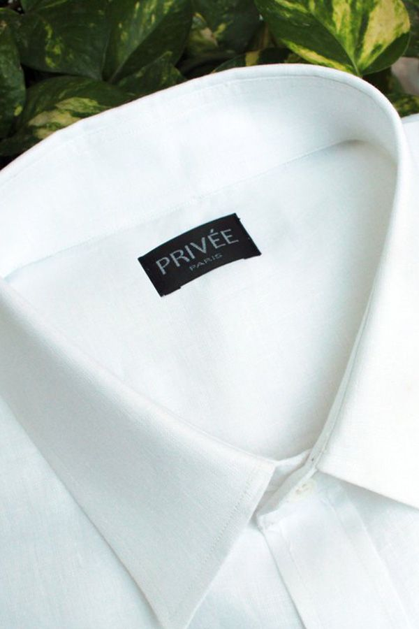 White Linen Shirt - Privee Paris