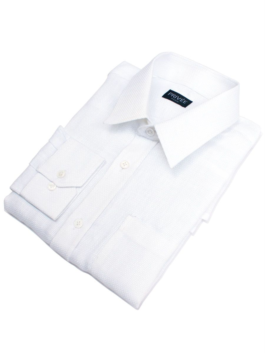 Privee Paris White Mesh Linen Shirt Online