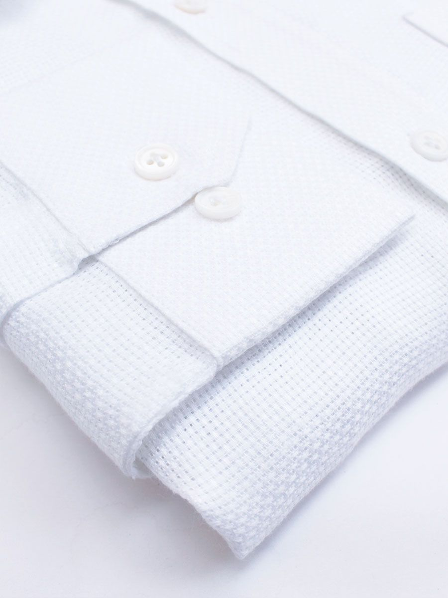 Privee Paris White Mesh Linen Shirts India