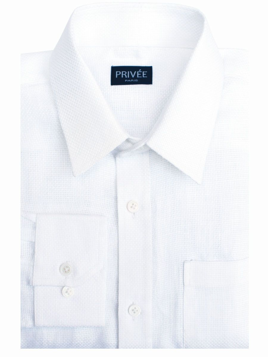 Privee Paris White Mesh Linen Shirt India