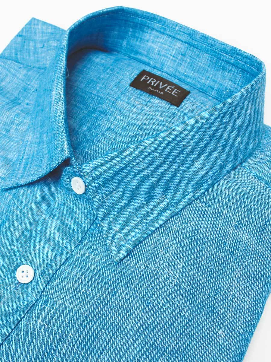 Linen Shirts Online India Blue Linen Shirt