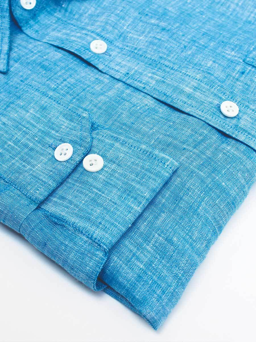 Blue Linen Shirts for Men