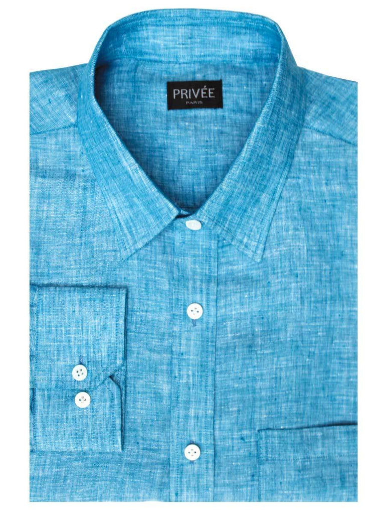 Blue Linen Shirt - Privee Paris