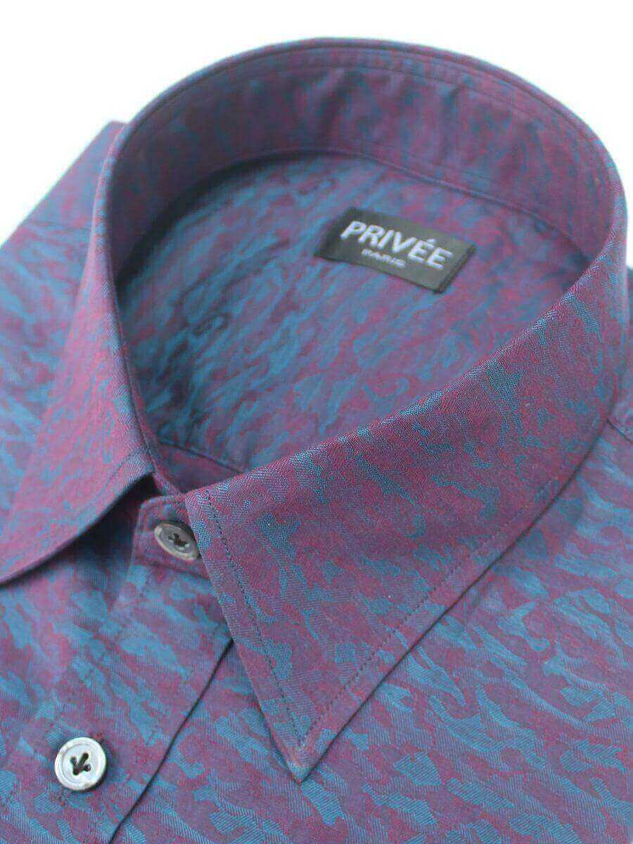 Designer Shirts for Men (Magical Night Jacquard Shirt)
