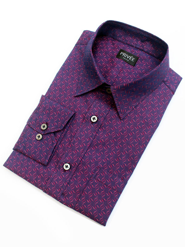 Ceremonial Collection - Purple Jacquard (Luxury Shirt) - Privee Paris