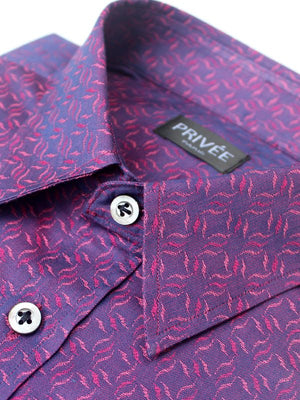 Purple Jacquard Luxury Wedding Shirt (Designer Shirts)