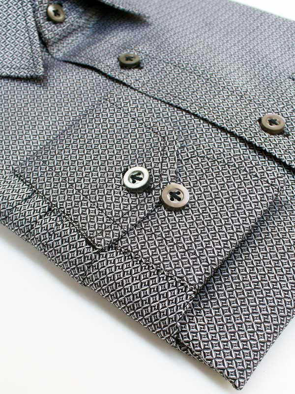 New Pattern Shirt Black Jacquard Luxury Shirt