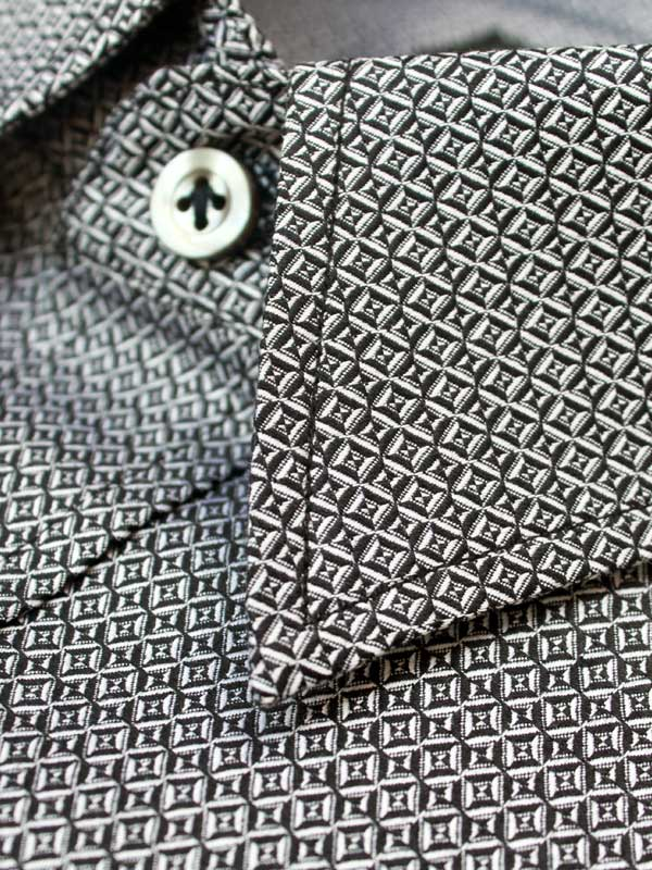 Privee Paris Black Jacquard New Pattern Shirt