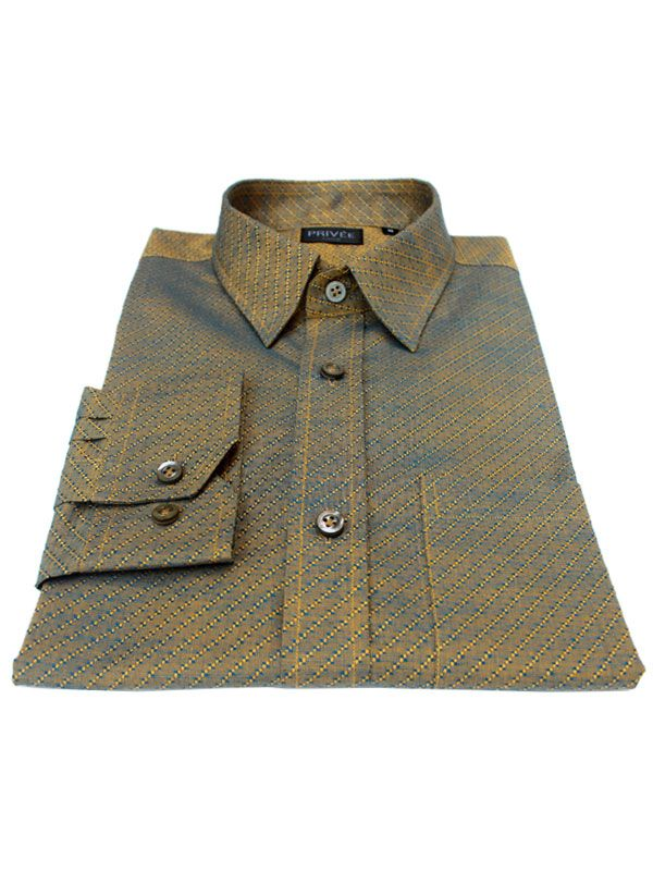 Privee Paris Ceremonial Collection - Earthy Jacquard (Luxury Shirt)