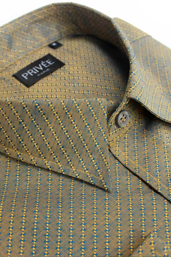 Earthy Jacquard (Luxury Shirt) in India