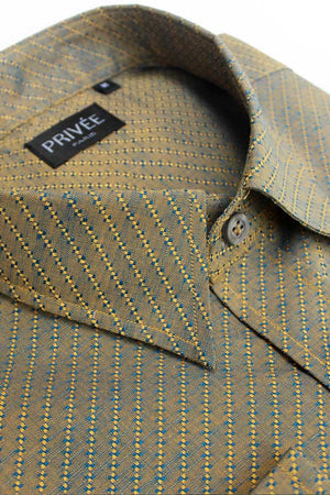 Ceremonial Collection - Earthy Jacquard Shirt - Privee Paris