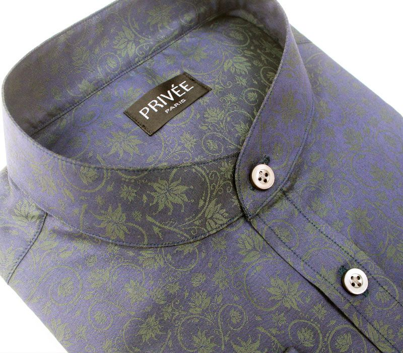 Novelty Collection - Peacock Green Luxury Shirt - Privee Paris