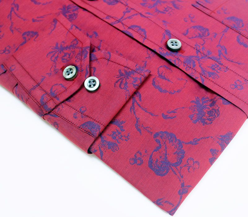 Novelty Collection - Royal Red Wedding Luxury Shirt - Privee Paris