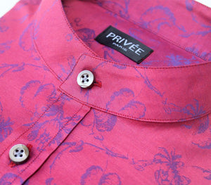 Royal Red Wedding Luxury Shirt (Privee Paris)