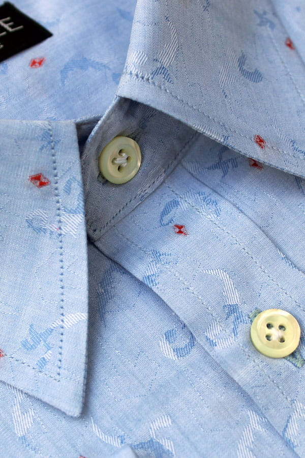 Designer Shirts India (Light Blue Jacquard)