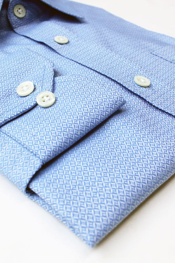 Blue Diamond Pattern Luxury Shirt (India)