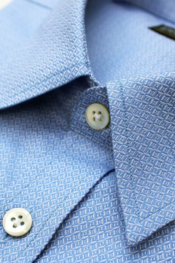 Blue Diamond Pattern Luxury Shirt (Privee Paris)