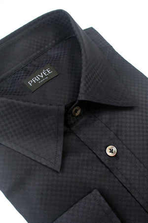 Black (Raven) Check Pattern Shirt - Privee Paris