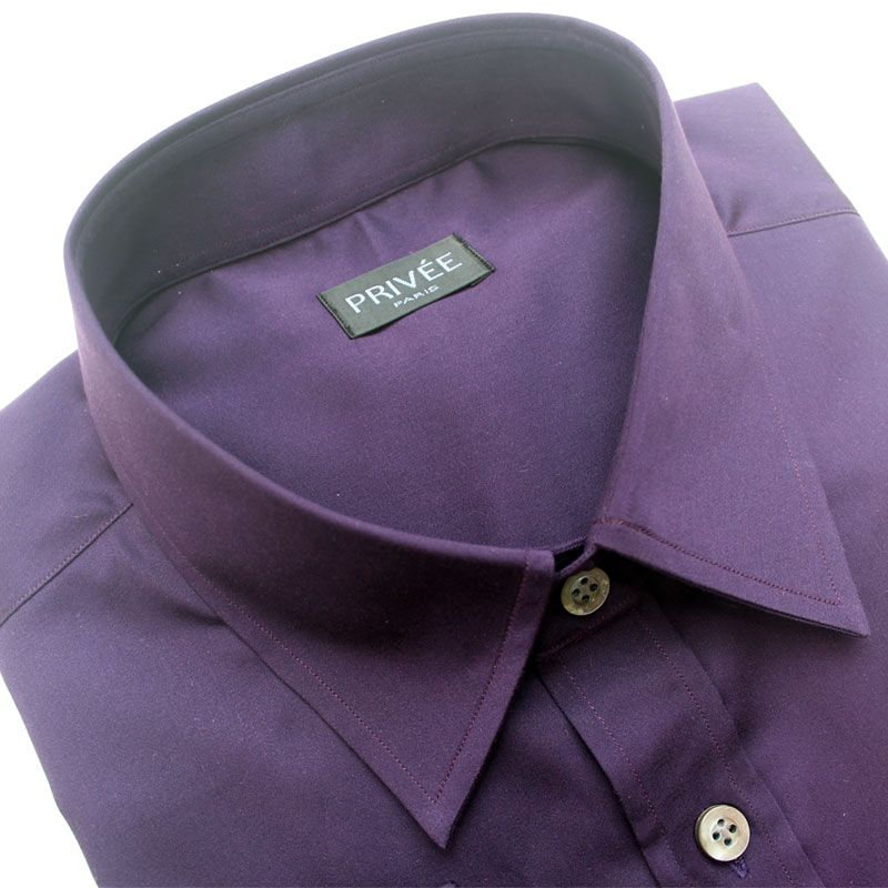 Purple Plum Party Wear Shirt