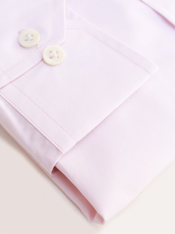 Pink 140s/2Ply Cotton Shirt - Privee Paris